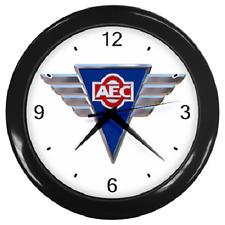 AEC SILVER WINGS CLOCK BUS COACH TRUCK BADGE REPRO WALL CLOCK **GREAT ITEM**