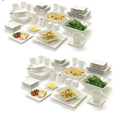 90 Piece 10 Strawberry Street Nova Square Banquet Dinnerware Set Service for 12