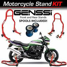 Front and Rear Motorcycle Heavy Duty Stand w/ CNC Spool Kit - Need Nothing Else!