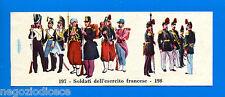 CENTENARIO UNITA D'ITALIA - Figurina-Sticker n. 197-198 - ESERCITO FRANCESE -Rec