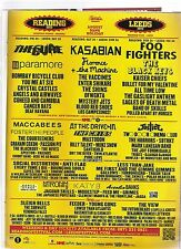 CURE FOO FIGHTERS KASABIAN Reading 2012 UK magazine ADVERT / Poster 11x8 inches