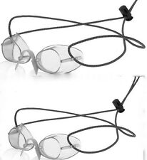 2 Pack - Sporti Swedish Swim Goggles- Antifog - Color CLEAR -Bungee Strap