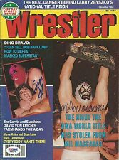 Mil Mascaras & The Masked Superstar Signed The Wrestler Magazine PSA/DNA COA WWE