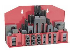 "52 Pc Clamping Kit Clamp 1/2"" T-Slot with 3/8""-16 Studs For Bridgeport Mill"