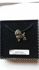 D3 Poodle Motif Pewter  PENDENT ON A  BLACK CORD  Necklace Handmade
