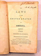 Antique Book Laws of the United States of America Acts Passed 1st Session 1799