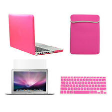 "4 in 1 HOT  PINK Rubberized Case for Macbook Pro 13"" A1425 Retina+ Key +LCD+BAG"