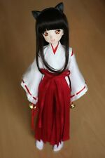 3pc Wihte&Red Inuyasha Kimono Miko Anime Suit/Outfit 1/4 MSD DOLL BJD Dollfie