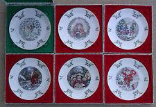 ROYAL DOULTON SET OF SIX CHRISTMAS PLATES - BOXED