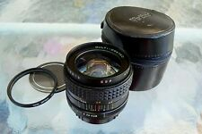 MAKINON 24MM F2.8 WIDE ANGLE LENS PENTAX K MOUNT w/ FILTER & CASE *EXCELLENT-