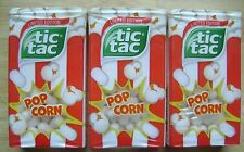 TIC TAC SWEETS POP CORN 10.2gm LIMITED EDITION ( Pack of 3 ) FREE SHIPPING