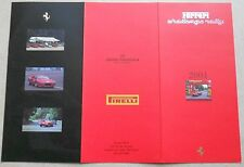 Ferrari North America Challenge Rally 2001 Invitation Applikation buch brochure