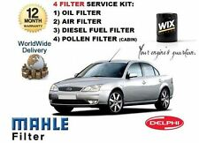 FOR FORD MONDEO 2.0 TDDi 11/2000-  SERVICE KIT OIL AIR FUEL POLLEN 4 FILTER KIT