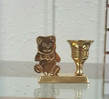 Brass Bear Candle Holder/Animal