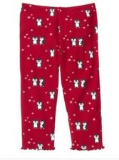 New Gymboree Penguin Chalet Toddler Girl's Leggings Red Size 3T