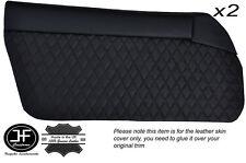 Black Diamond St 2x Puerta Tarjeta cubiertas de cuero se adapta a Mazda Mx5 Mk1 Miata Jdm 89-97
