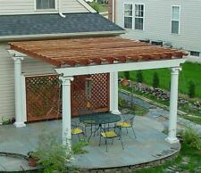 Patio or Deck Pergola with Tuscan Column Design