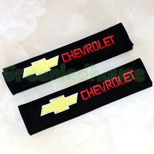 2pcs Cotton Car Seat Belt Shoulder Pads Covers Cushion Embroidery For Chevrolet