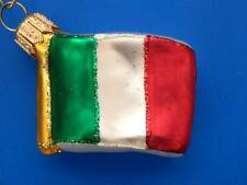 FLAG ITALY ITALIAN INTERNATIONAL BLOWN GLASS CHRISTMAS ORNAMENT