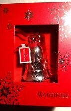 *NEW* Waterford Crystal Christmas Ornament SILVER LISMORE BELL NIB