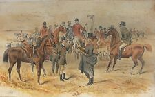 Hunting - Original Victorian Watercolour Drawing of a Comical Scene