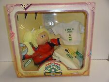 1985 Cabbage Patch World Traveler CHINA blonde girl pig tails NRFB MM coleco #3