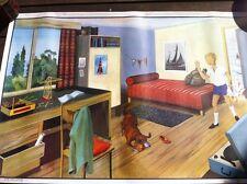 Affiche scolaire école vintage collection Ogé-Hachette plusieurs modèle au choix