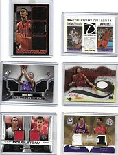 CHRIS BOSH LOT OF (6) DIFFERENT AUTHENTIC GAME USED JERSEY CARDS
