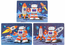 6 Space Robot Jigsaw Puzzles - Pinata Toy Loot/Party Bag Fillers Wedding/Kids