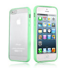 GREEN Top Grade Hard MATTE PC & Soft GEL Cases Cover For Apple iPhone 5 5S