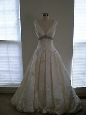 NWOT Authentic Beautiful Designer Jim Hjelm Ivory Wedding Dress Style 8765