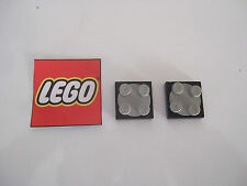 LEGO  2x Plaque tournante 2X2 Black gray plate rotating turn Réf 3679 3680