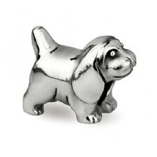 Beagle Genuine Sterling Silver Solid Charm OHM Bead AAA029