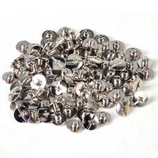 100x Solid Binding Screw Stud Head Button Nail Rivets Leather Craft Belt Wallet