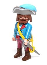 Playmobil Figure Chubby Pirate Captain w/ Brown Beard Hat Sword