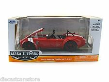 JADA BIGTIME  1965 SHELBY COBRA 427 S/C 1/24 RED with BLACK WHEELS 90537