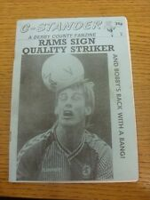Sep-1991 Fanzine: Derby County - C-Stander - Issue 2. Any faults are noted in br