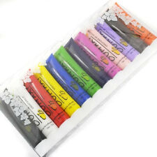 PRO 12 Different Colors 3D Nail Art Paint Tube Acrylic Nail Art Tip UV Gel 12ml