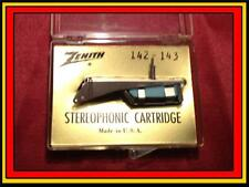 New Genuine Zenith 142-143 Phonograph Turntable Cartridge with Needle/Stylus
