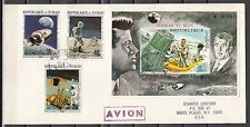 """ Chad, Scott cat. 225 A, E. Kennedy & Apollo Program issues on First Day Cover."