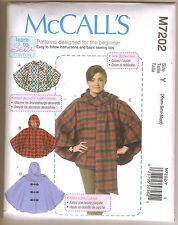 McCall's  7202 - Misses' Learn to Sew Poncho Patterns - Size XS-SM-MED