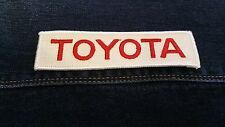 Vintage Toyota Patch / Red and White / auto / car / gifts for him / DIY / Jacket