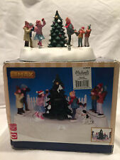 Collectible Lemax Mistletoe Chase Christmas Animated Decoration  #34604 In Box