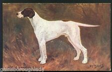 "F.T.DAWS -ENGLISH POINTER POSTCARD ""CH.LUNESDALE WAGG"" - SPRATTS"