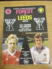 15/02/1978 Football League Cup Semi-Final: Nottingham Forest v Leeds United  . T