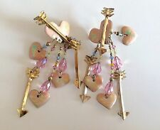 "Vintage ""Lunch at the Ritz"" 1985 Collection earrings - $70 inc shipping!"
