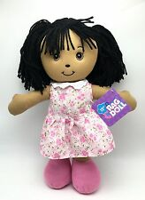 Rag Doll Cute Kids Toy 15 inch ages 3+ pink flower white dress New