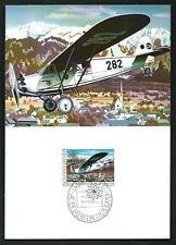 Cartolina commemorativa del 1° volo aereo in Liechtenstein
