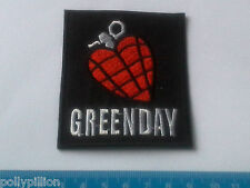PUNK ROCK HEAVY METAL MUSIC SEW ON / IRON ON PATCH:- GREEN DAY (b) HEART GRENADE