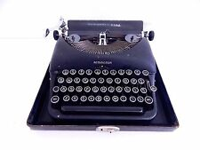 Vintage Remington Rand Deluxe Model 5 Portable Manual Typewriter with Case